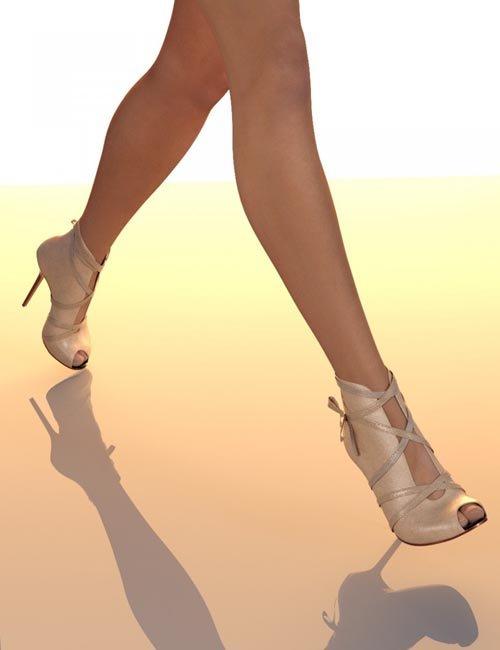 Peep Toe High Heel for Genesis 3 Female(s)