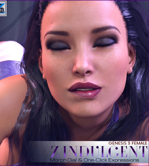 Z Indulgent - Morph Dial & One-Click Expressions for Genesis 3 Female/Victoria 7