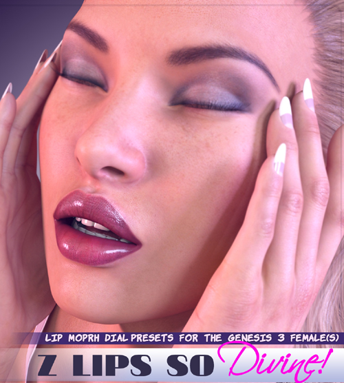 Z Lips So Divine - Lip Morph Dial Presets for the Genesis 3 Female(s)