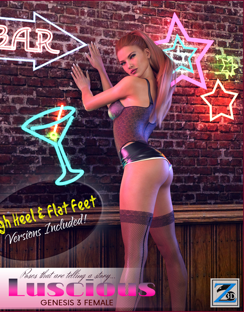 Z Luscious - Poses for the Genesis 3 Females