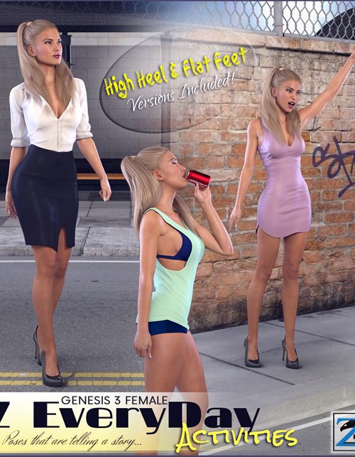 Z Every Day Activities - Poses for the Genesis 3 Females