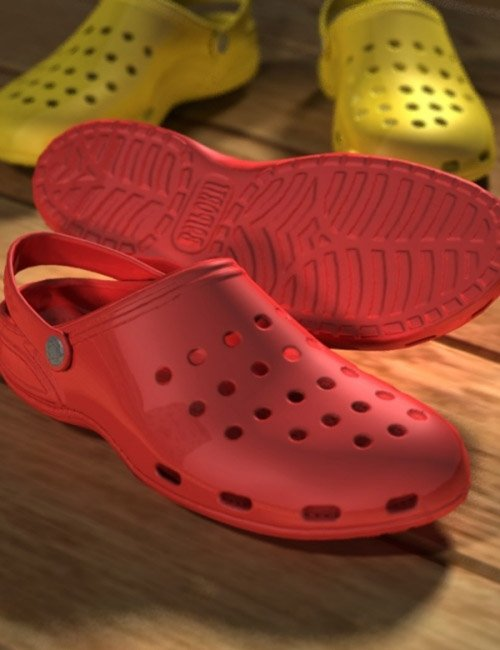 [update iray] Sports Clogs for Genesis