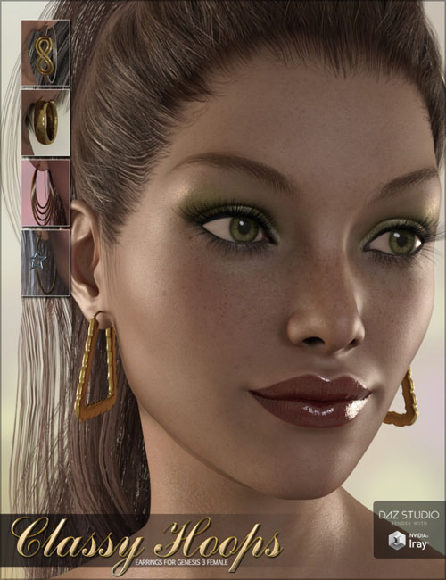 Classy Hoops for Genesis 3 Female(s)