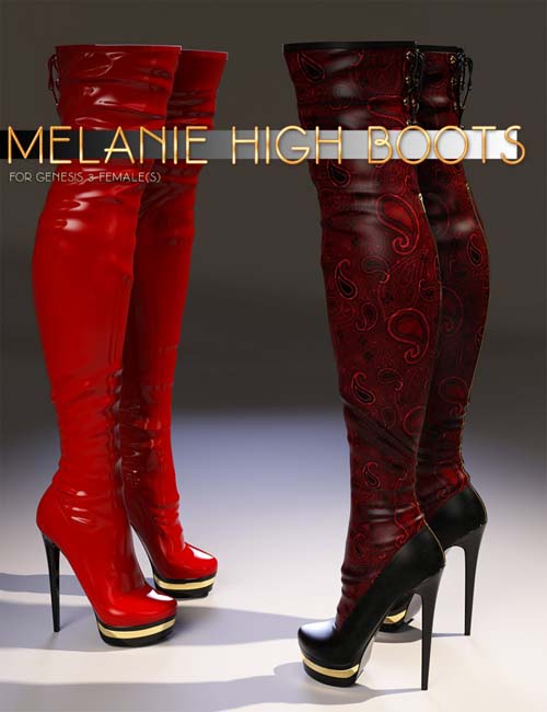 Melanie High Boots for Genesis 3 Female(s)
