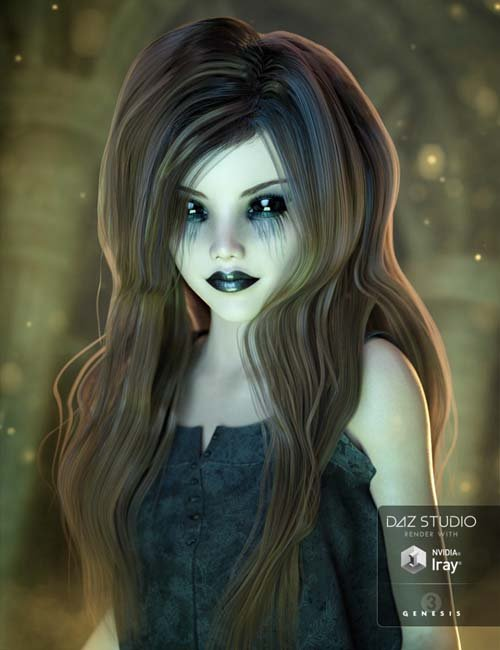 Waif Hair for Genesis 3 Female(s)