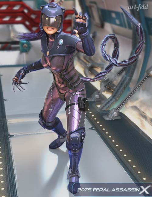 2075 Feral Assassin X for Genesis 3 Female(s)
