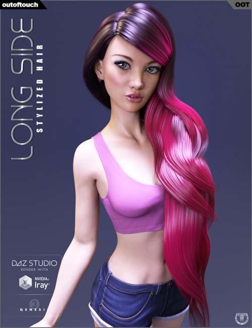 Long Side Hair for Genesis 3 Female(s)