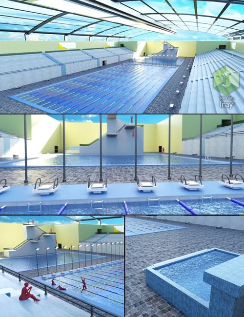 Competition pool daz3d and poses stuffs download free for 3d pool design online free
