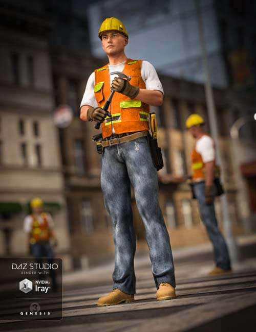 Construction Worker Outfit (converted from G3M) for Genesis 8 Male(s)