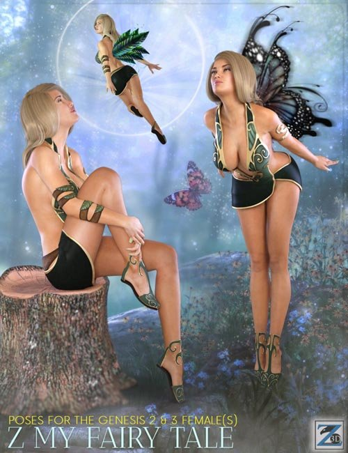 Z My Fairy Tale - Poses for the Genesis 2 & 3 Female(s)