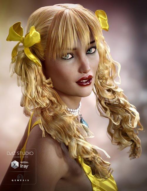 Fayette Hair for Genesis 3 Female(s)