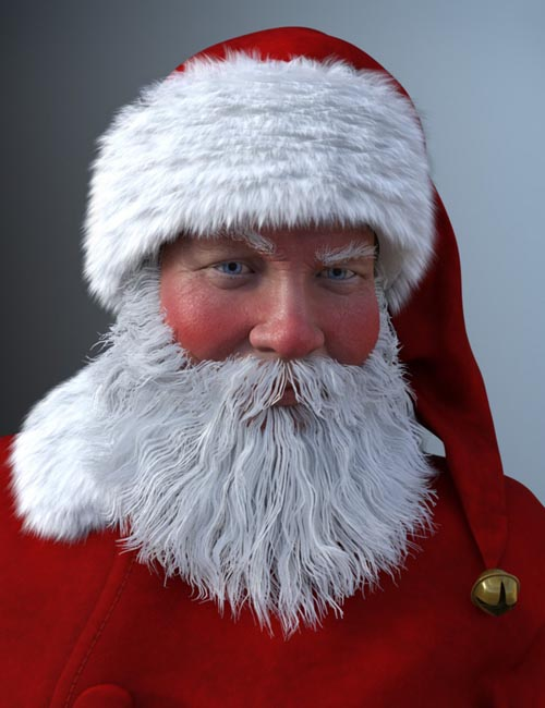 Santa Claus Outfit, Character and Hair Bundle
