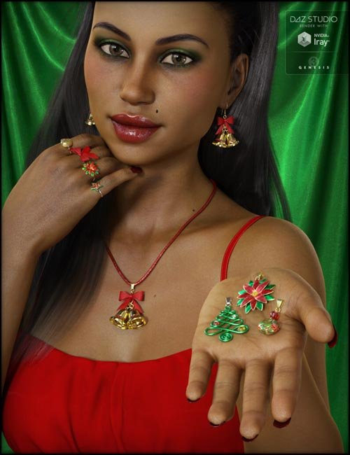 Christmas Jewelry for Genesis 3 Female(s)