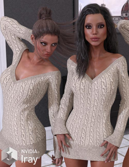 VERSUS - Boyfriend Sweater for Genesis 3 Female