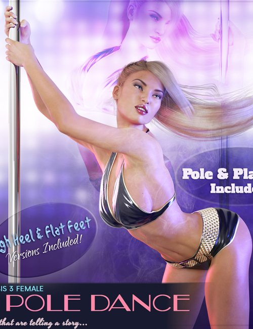 Z Pole Dance - Poses for Genesis 3 Female