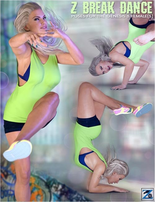 Z Break Dance - Poses for the Genesis 3 Female(s)
