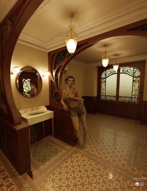 Art Nouveau Bathroom