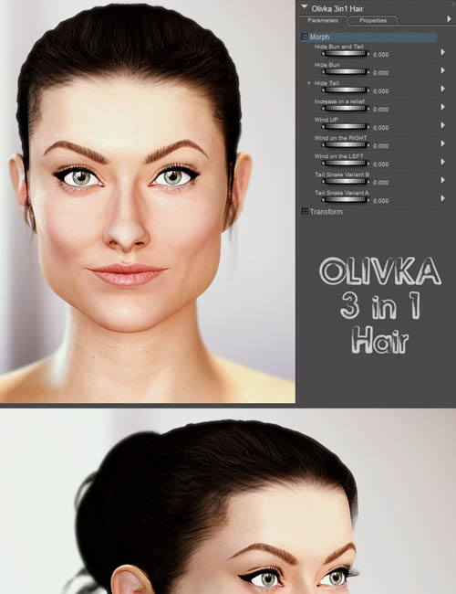OLIVKA 3in1 Hair for V4