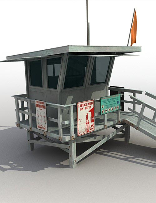 15944 lifeguard tower [ iray and. Duf| update ]