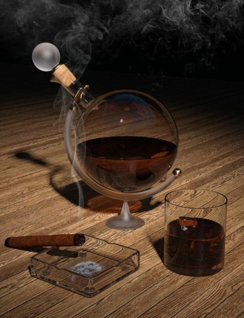 Whiskey and Smoke Tutorial Plus Props