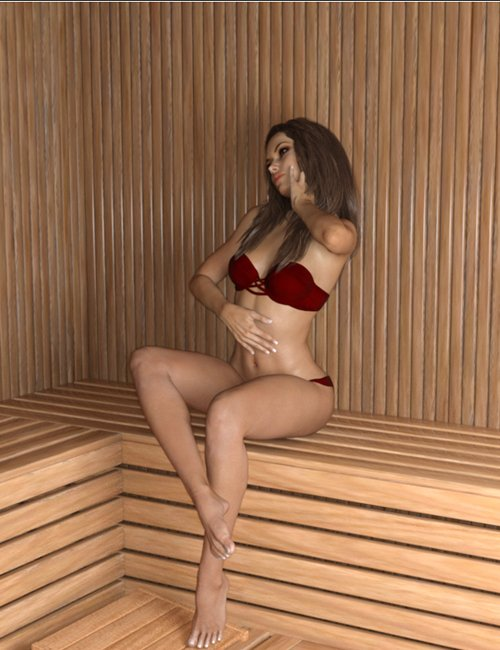 Z Steamy Sauna + Poses - Daz and Poser (Iray Updated)