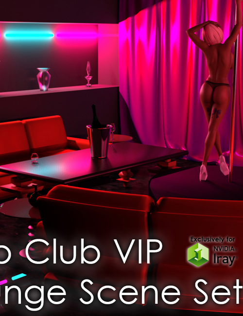 Strip Club VIP Lounge And Iray Lights
