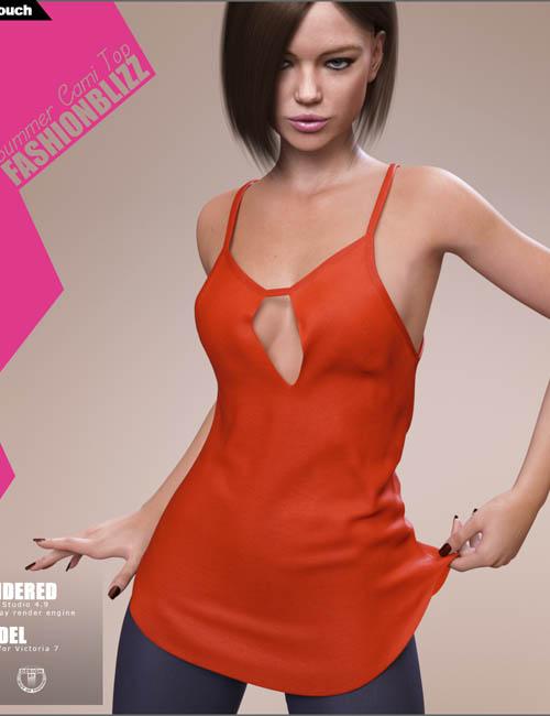 Fashion Blizz: Summer Cami Top for Genesis 3 Females