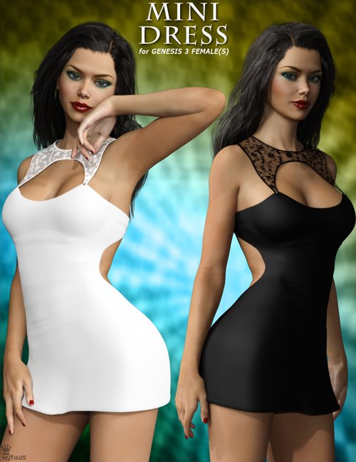 Mini Dress For Genesis 3 Female(s)
