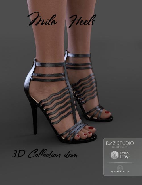 Mila Heels for Genesis 3 Female(s)