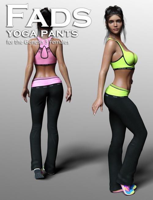 Fads Yoga Pants for Genesis 3 Female