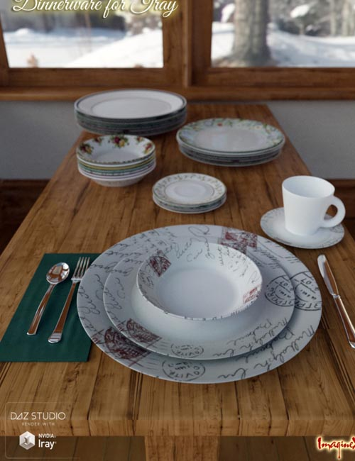 Dinnerware for Iray