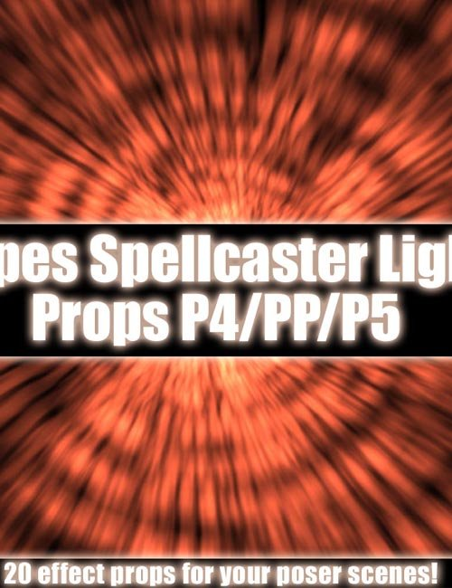 Jepes Spellcaster Light Props for Poser
