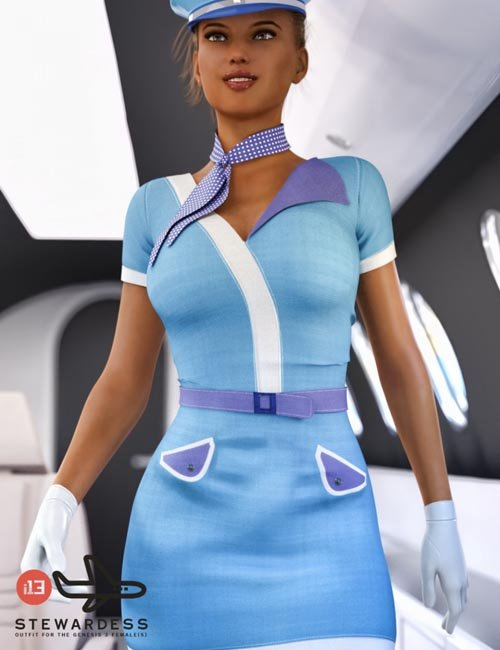 i13 Stewardess Outfit for the Genesis 3 Female(s)