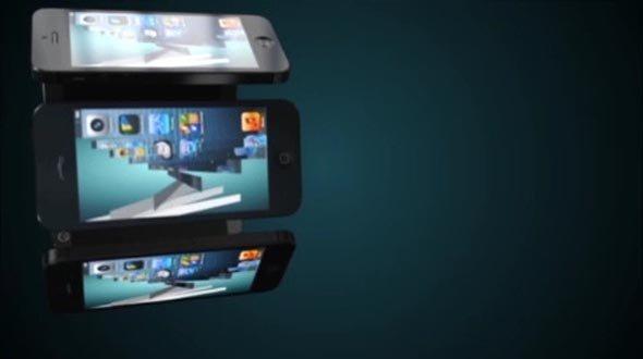 AE CS5 Template: iPhone Bullet Menu
