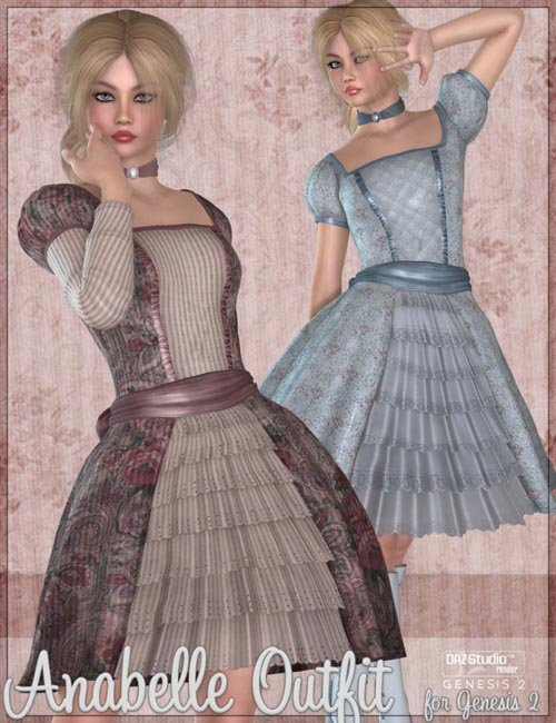 Anabelle Outfit for Genesis 2 Female(s)