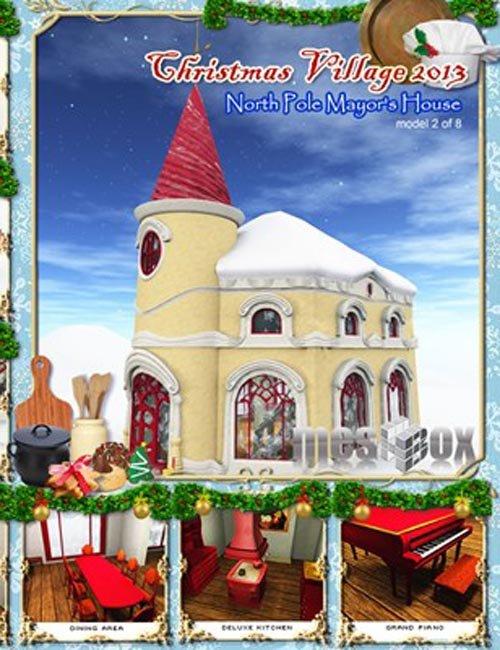 North Pole Mayor's House - Christmas Village 13