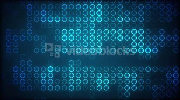 Blue Circles in Grid Pattern 2
