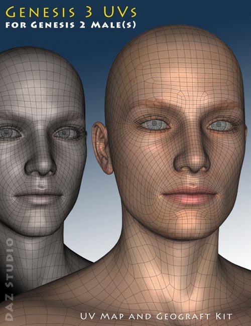Genesis 3 UVs for Genesis 2 Male(s)