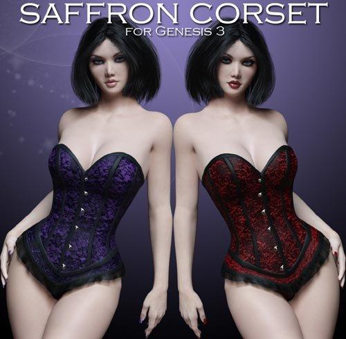 Saffron Corset for Genesis 3