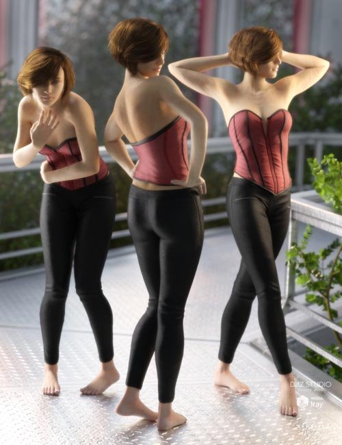 Classic Pin-Up Standing Poses for Genesis 3 Female(s)