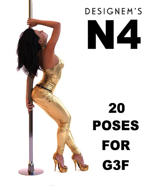 Natural 4 poses for G3F