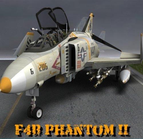 F-4B Phantom II for Daz Studio and Poser