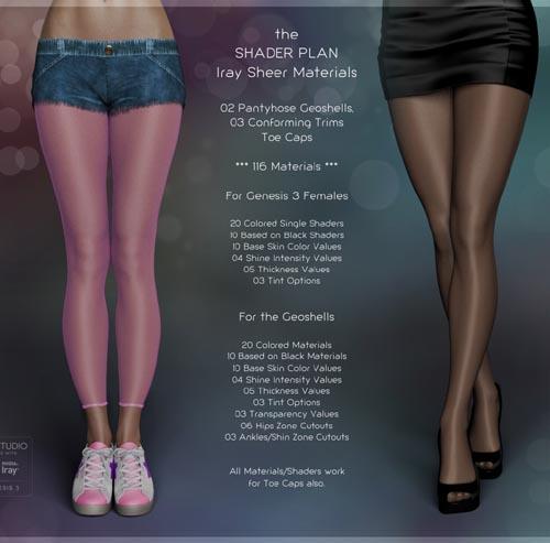 Shader Plan - Iray Sheers and Pantyhoses
