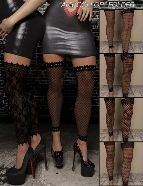 LUST MEGAPACK - Fishnet Leggings for Genesis 3 Female(s)