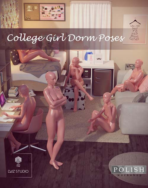 College Girl Dorm Poses