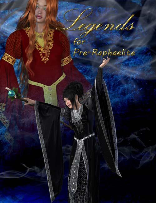 Legends for Pre-Raphaelite