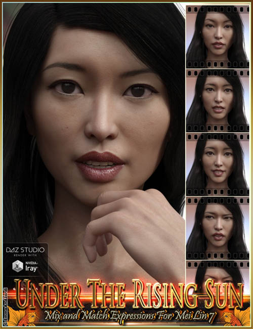 Under The Rising Sun Mix and Match Expressions for Mei Lin 7 and Genesis 3 Female(s)