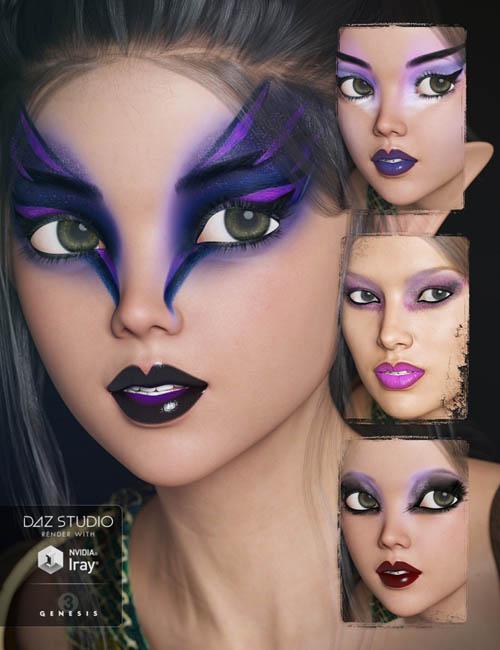 Dark Fantasy Makeup for Genesis 3 Female