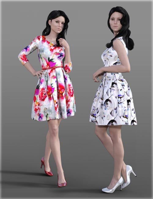 H&C Fit & Flare Dress for Genesis 3 Female(s)
