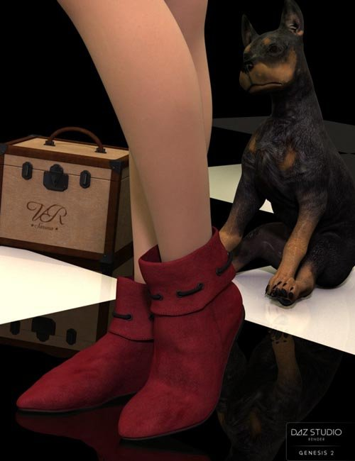 Robin Hood Boots for Genesis 2 Female(s) and Genesis 3 Female(s)